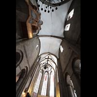 Dortmund, St. Marien, Blick ins Gewölbe, zum Chor und zur Orgel