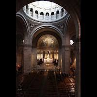 Paris, Basilique du Sacré-Coeur (Hauptorgel), Blick von der Empore der Hauptorgel in die Kirche