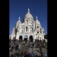 Paris, Basilique du Sacré-Coeur (Hauptorgel), Außenansicht, Fassade