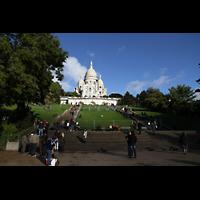 Paris, Basilique du Sacré-Coeur (Hauptorgel), Oberer Teil des Montmartre mit der Basilka Sacré-Coeur