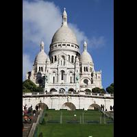 Paris, Basilique du Sacré-Coeur (Hauptorgel), Fassade mit Türmen und Kuppel