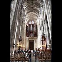 Paris, Saint-Eustache, Hauptschiff in Richtung Orgel