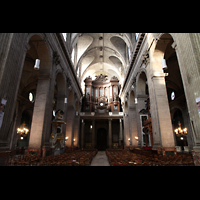 Paris, Saint-Sulpice (Chororgel), Hauptschiff in Richtung Orgel
