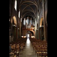 Paris, Saint-Germain des Prés, Hauptschiff in Richtung Orgel