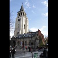 Paris, Saint-Germain des Prés, Gesamtansicht von außen mit Turm
