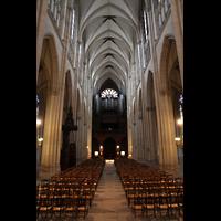 Paris, Sainte-Clotilde, Hauptschiff in Richtung Orgel