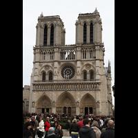 Paris, Cathédrale Notre-Dame (Hauptorgel), Doppelturmfassade