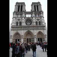 Paris, Cathédrale Notre-Dame (Hauptorgel), Fassade
