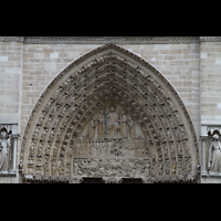 Paris, Cathédrale Notre-Dame (Hauptorgel), Tympanon über dem Hauptportal