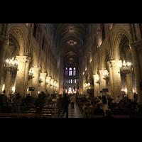 Paris, Cathédrale Notre-Dame (Hauptorgel), Hauptschiff in Richtung Chor