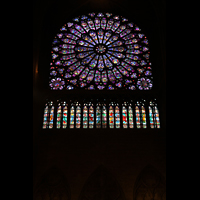 Paris, Cathédrale Notre-Dame (Hauptorgel), Westrose von 1220 im nördlichen Querhaus