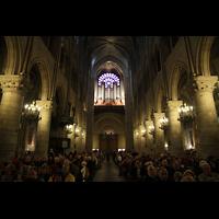 Paris, Cathédrale Notre-Dame (Hauptorgel), Hauptschiff in Richtung Orgel