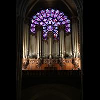 Paris, Cathédrale Notre-Dame (Hauptorgel), Große Orgel mit West-Rosette