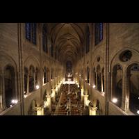 Paris, Cathédrale Notre-Dame (Hauptorgel), Blick von der Orgelempore in die Kathedrale