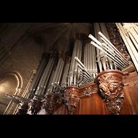 Paris, Cathédrale Notre-Dame (Hauptorgel), Orgelprospekt mit Chamaden