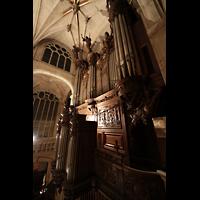 Paris, Saint-Étienne-du-Mont, Blick vom Spieltisch auf die Orgel