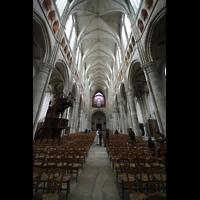Soissons, Cathédrale Saint-Gervais et Saint-Protais, Hauptschiff in Richtung Orgel