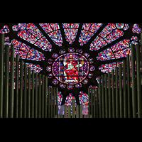 Soissons, Cathédrale Saint-Gervais et Saint-Protais, Orgel und Fensterrosette