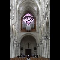 Soissons, Cathédrale Saint-Gervais et Saint-Protais, Westwand mit Orgel