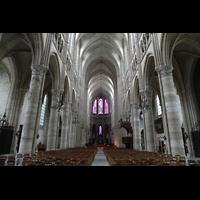 Soissons, Cathédrale Saint-Gervais et Saint-Protais, Hauptschiff in Richtung Chor