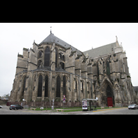Soissons, Cathédrale Saint-Gervais et Saint-Protais, Außenansicht Chorraum und Querhaus
