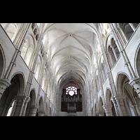 Laon, Cathédrale Notre-Dame, Hauptschiff und Orgel