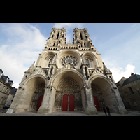 Laon, Cathédrale Notre-Dame, Doppelturmfassade