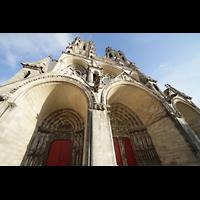 Laon, Cathédrale Notre-Dame, Gewaltige Bögen über den Portalen