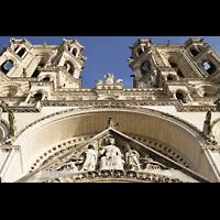 Laon, Cathédrale Notre-Dame, Figurenschmuck an der Fassade