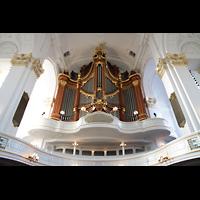 Hamburg, St. Michaelis, ''Michel'' (Krypta-Orgel), Hauptorgel auf der rückseitigen Empore