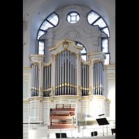 Hamburg, St. Michaelis, ''Michel'' (Krypta-Orgel), Konzertorgel mit Spieltisch
