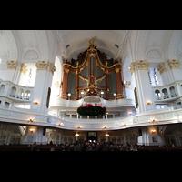 Hamburg, St. Michaelis, ''Michel'' (Krypta-Orgel), Innenraum in Richtung Hauptorgel