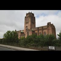 Liverpool, Anglican Cathedral (Hauptorgelanlage), Kathedrale von der Hope Street aus gesehen