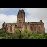 Liverpool, Anglican Cathedral (Hauptorgelanlage), Kathedrale von der Seite