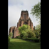 Liverpool, Anglican Cathedral (Hauptorgelanlage), Chor und Turm von außen
