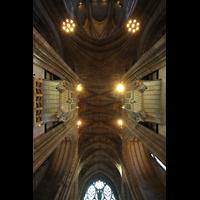 Liverpool, Anglican Cathedral (Hauptorgelanlage), Orgel umd Gewölbe im Chor
