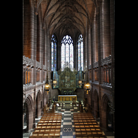 Liverpool, Anglican Cathedral (Hauptorgelanlage), Lady Chapel in Richtung Chor