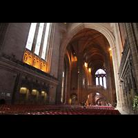 Liverpool, Anglican Cathedral (Hauptorgelanlage), Zentralraum in Richtung Chor