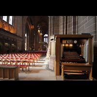 Liverpool, Anglican Cathedral (Hauptorgelanlage), Spieltisch in der Vierung