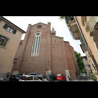 Verona, Basilica di S. Anastasia, Außenansicht von der Seite