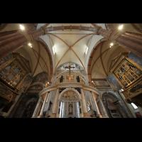 Verona, Cattedrale S. Maria Assunta (Chororgel), Evangelien- und Epistelorgel und Vierungsraum
