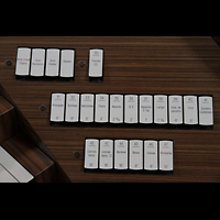 Sorrento, Cattedrale, Rechte Registerstaffel am Spieltisch
