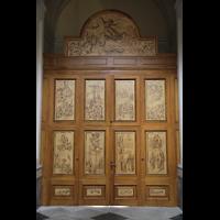 Sorrento, Cattedrale, Türen des Seitenportals