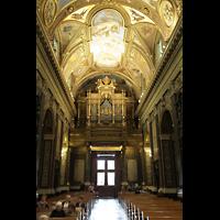 Pompei, Santuario della Madonna, Innenraum in Richtung Orgel