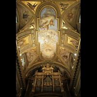 Pompei, Santuario della Madonna, Deckenmalerei und Orgel
