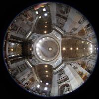 Roma (Rom), Basilica S. Pietro (Petersdom), Innenraum Gesamtansicht von der Vierung aus gesehen