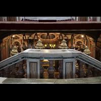Roma (Rom), Basilica S. Pietro (Petersdom), Blick unter den Hauptaltar in Richtung (verschlossene) Krypta