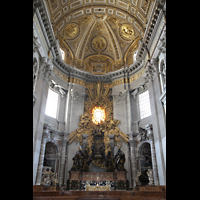 Roma (Rom), Basilica S. Pietro (Petersdom), Chorraum mit Cathedra Petri