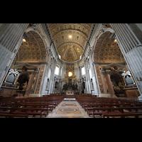 Roma (Rom), Basilica S. Pietro (Petersdom), Chorraum mit Epistel- und Evangelienorgel