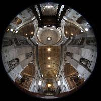 Roma (Rom), Basilica S. Pietro (Petersdom), Innenraum Gesamtansicht vom Chorraum aus gesehen